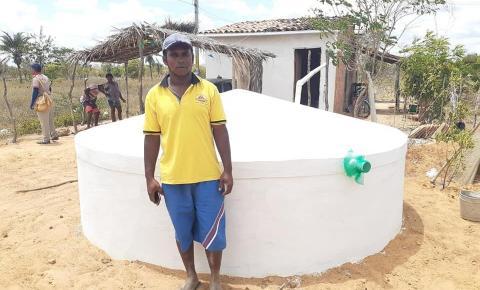 Cisternas do Projeto 1ª Água estão sendo construídas nos municípios de Serrolândia e Várzea do Poço
