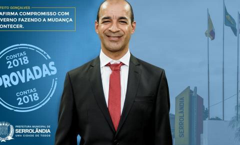 TCM APROVA CONTAS DE 2018 DO PREFEITO GONÇALVES DO SACOLÃO