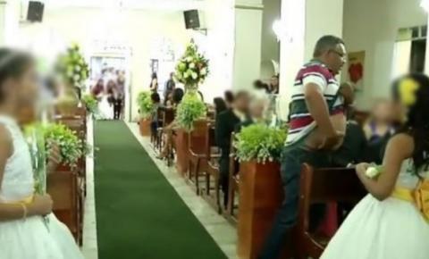 Pânico: Vídeo mostra casamento em igreja católica, interrompido por tiros; três feridos