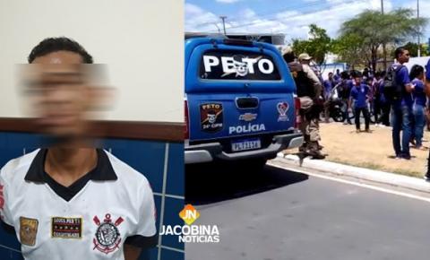 Homem é preso pela PM logo após roubar celular de estudante em Jacobina