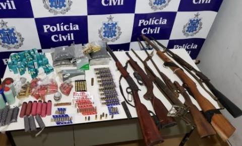 Polícia localiza homem fortemente armado no interior da Bahia