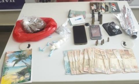 Operação em Várzea da Roça apreende drogas e prende traficante