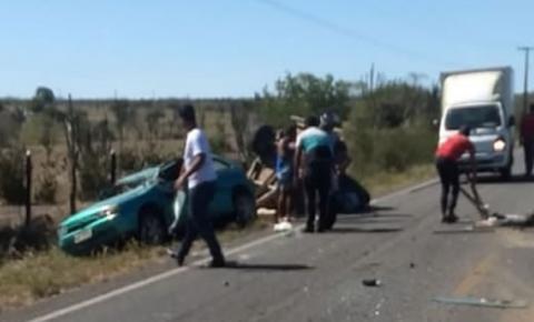 Grave acidente é registrado na BA-130 que liga Capim Grosso a São José