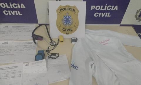 Mulher é presa por exercício ilegal da medicina e falsidade ideológica na Bahia
