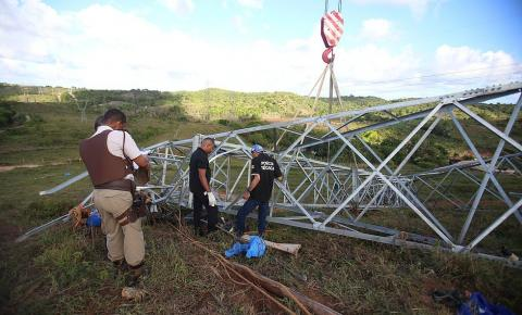 Queda de torre de alta tensão deixa três mortos na Bahia
