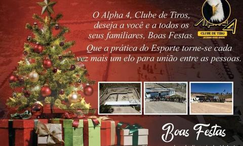 Alpha4 Clube de Tiro deseja a todos um Feliz Natal