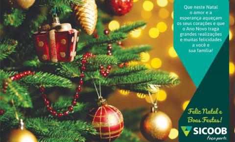 Sicoob Coopemar deseja a todos um Feliz Natal
