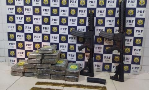 Casal é preso com fuzis, munições e cocaína escondidos dentro de caminhonete na BA
