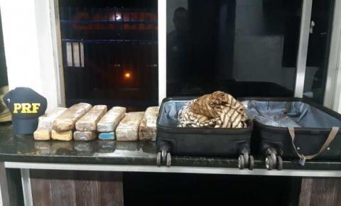 Jovem de 19 anos é presa pela PRF transportando maconha no oeste da Bahia