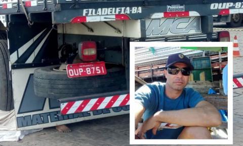 Caminhoneiro morre em acidente ao regular os freios do caminhão em Filadélfia