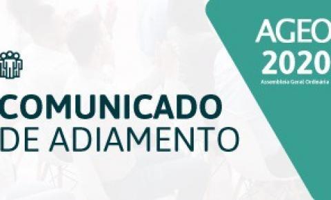 Sicoob Informa: AGEO 2020 COMUNICADO DE ADIAMENTO