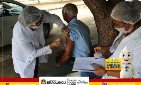 Prefeitura de Serrolândia inicia campanha de vacinação contra gripe