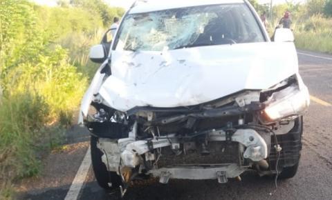 Motociclista fica ferido ao colidir com carro entre Jacobina e Miguel Calmon