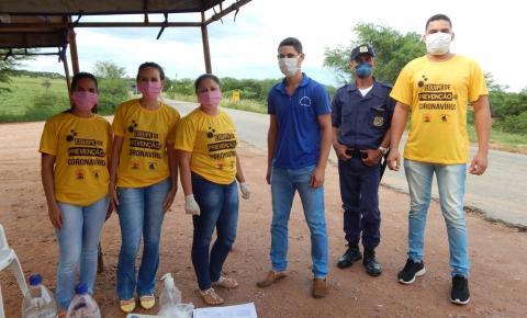 Secretaria Municipal de Saúde de Várzea do Poço realiza Barreira Sanitária na entrada do Município