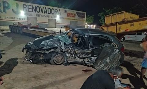 Grave acidente automobilismo próximo ao aeroporto 2 de Julho em Jacobina
