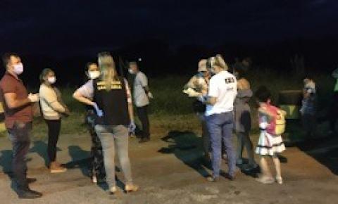 16 pessoas ficarão em quarentena após abordagem a ônibus vindo de São Paulo