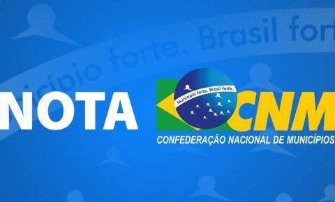 NOTA DE ESCLARECIMENTO DO MOVIMENTO MUNICIPALISTA À POPULAÇÃO BRASILEIRA
