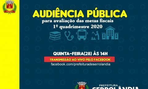 Audiência Pública sobre o 1 Quadrimestre do exercício 2020 em Serrolândia
