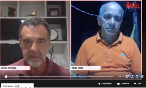 Em live, Gildo Mota afirma pré-candidatura além de aliança com Carote e uma possível chapa única