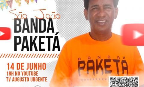 Atendendo a milhares de pedidos, Banda Paketá realizará sua live de São João