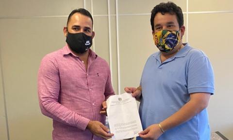 Vereador Clebinho de Silé agradece apoio do Dnocs após ceder área que será destinada ao esporte em Serrolândia