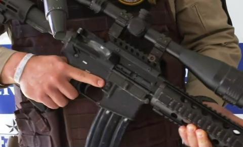 Suspeito de tráfico é preso com fuzil de mira telescópica na BA; arma é usada pelo exército norte-americano