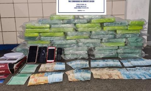 Três homens são presos e 50 kg de cocaína são apreendidos em ação policial em Jequié