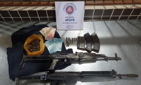 Dupla morre em confronto com PMs em Salvador; dois fuzis foram apreendidos