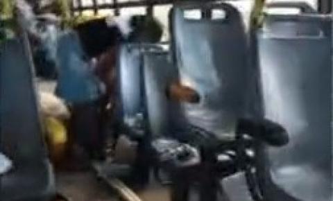 Grupo armado intercepta ônibus e assalta cerca de 40 passageiros em estrada de terra de Feira de Santana