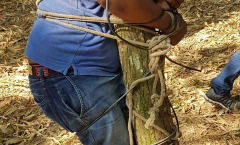 Motorista de transporte por aplicativo é sequestrado e encontrado amarrado em árvore na Bahia