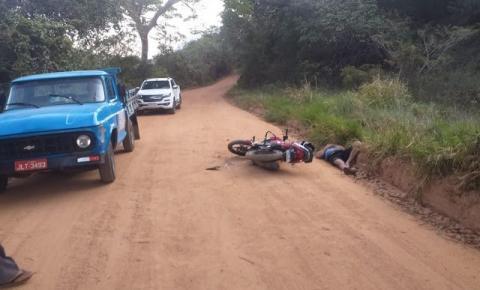 Motociclista fica ferido, ao colidir com caminhonete na estrada do Coxo de Dentro em Jacobina