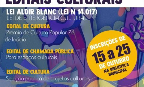 Prefeitura de Serrolândia lança editais da lei Aldir Blanc para apoio ao setor cultural