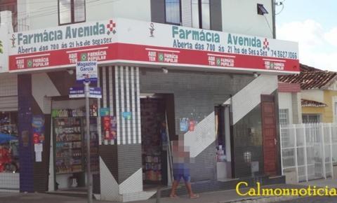 Miguel Calmon: Farmacia Avenida foi assaltada na noite desta quarta (15) veja mais