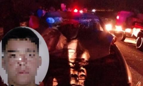 Jovem morre ao colidir moto frontalmente com carro próximo ao França de Piritiba