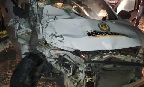 Acidente envolvendo carro da prefeitura de Serrolândia