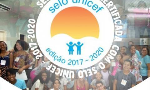 Serrolândia é certificada com o Selo UNICEF - Edição 2017-2020