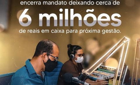 Prefeito Gonçalves do Sacolão encerra mandato deixando cerca de 6 milhões em caixa.