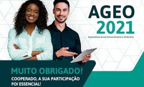 O Sicoob agradece a participação dos cooperados na AGEO 2021
