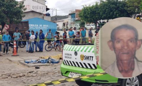 Identificado ciclista que morreu atropelado por caçamba no Bairro do Peru em Jacobina