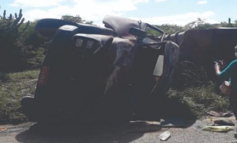 Um morto e três feridos, em grave acidente com caçamba no município de Mirangaba
