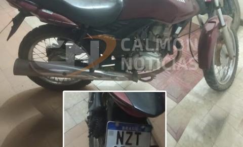 Moto roubada em Tapiranga é recuperada pela polícia em Serrolândia