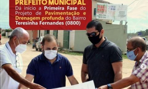 Gildo Mota anuncia 1º Fase do Projeto de Pavimentação e Drenagem do Bairro Teresinha Fernandes!
