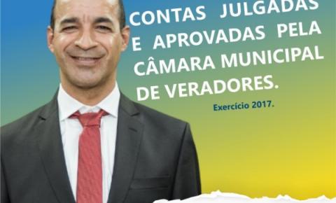 Contas do Ex. Prefeito Gonçalves do Sacolão foram aprovadas pela Câmara municipal de vereadores.