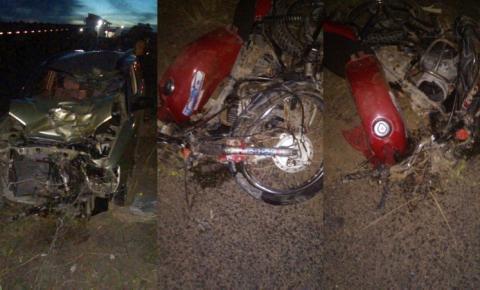 Acidente envolvendo veículo de Serrolândia e uma moto honda