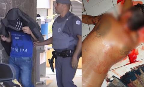 Policial é preso após atirar em assaltante que invadiu sua casa.