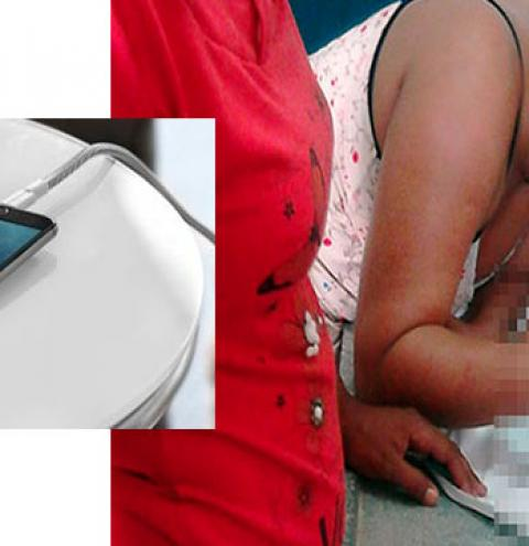 Bebê de 7 meses morreu eletrocutado ao colocar fio de carregador do celular na boca