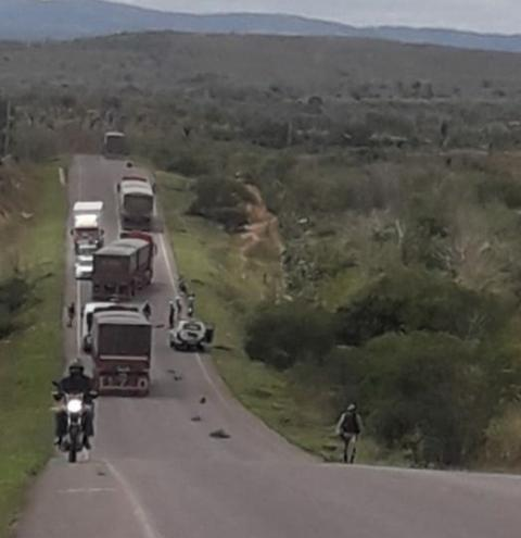 Grave acidente na rodovia BA 233 em Ipirá, deixa três vítimas fatais