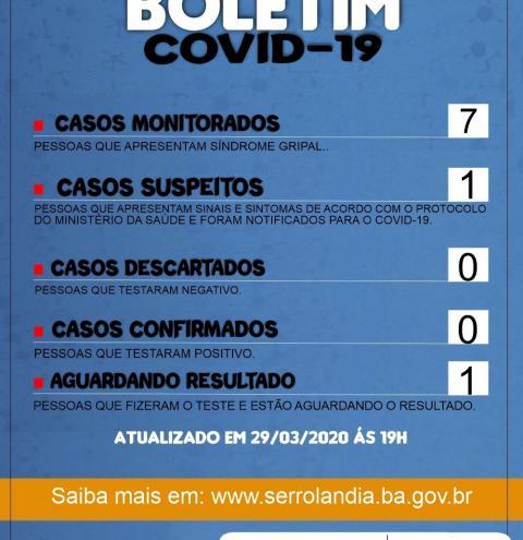 Caso suspeito de COVID-19 é registrado em Serrolândia