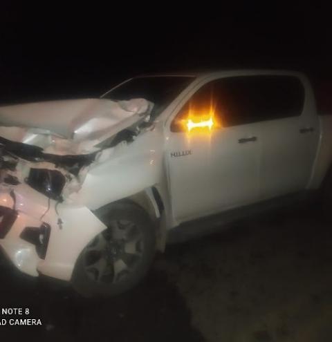 Prefeito de Umburanas se envolve em acidente com animal na pista